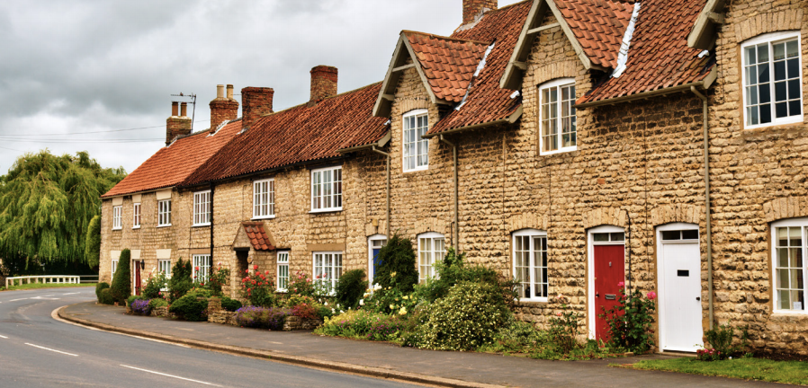 Row of Cotswold cottages - illustrating legal advice for jointly owning a house, from property solicitors in Hungerford Berkshire